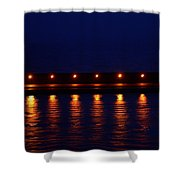 Harbor Lights Reflected Shower Curtain