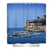 Harbor - North Coast Of Spain Shower Curtain