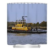 Harbor Tug Savannah Shower Curtain