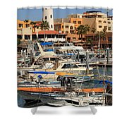 Harbor Waterfront In Cabo San Lucas Shower Curtain