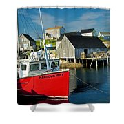 Harbour Mist In Peggy's Cove No 103 Shower Curtain
