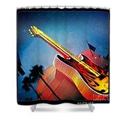 Hard Rock Guitar Shower Curtain