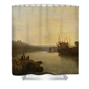 Harlech Castle - From Twgwyn Ferry Shower Curtain