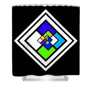 Harlequin Tile Shower Curtain