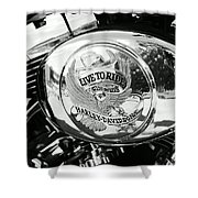 Harley Davidson Bike - Chrome Parts 22 Shower Curtain