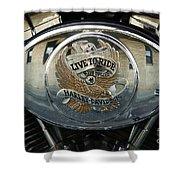Harley Davidson Bike - Chrome Parts 44c Shower Curtain