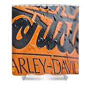 Harley Davidson Logo Shower Curtain