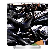 Harley Davidson Motorcycles Shower Curtain