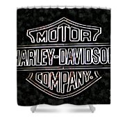 Harley Sign Shower Curtain