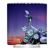 Harley Sunset Shower Curtain