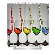 Harmonic Cheers Shower Curtain