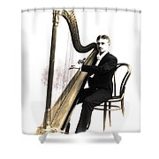 Harp Player Shower Curtain