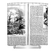 Harpers Magazine, 1861 Shower Curtain