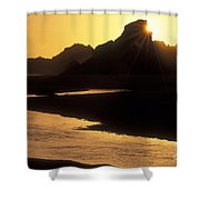Harris Beach Sunset Shower Curtain