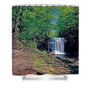 Harrison Wright Falls - Summertime Shower Curtain