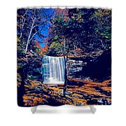 Harrison Wright Falls In Fall Shower Curtain