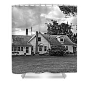 Harvest Time In Pennsylvania Monochrome Shower Curtain