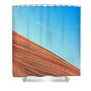 Harvested Crop Lines And Clear Skies Shower Curtain
