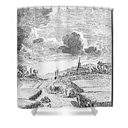 Harvesting, 18th Century Shower Curtain