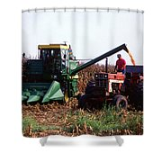 Harvesting Corn Shower Curtain