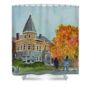 Haskell Free Library In Autumn Shower Curtain