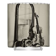 Hat And Fiddle Shower Curtain