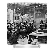 Hat Factory, C1900 Shower Curtain