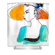 Hat Lady 15 Shower Curtain
