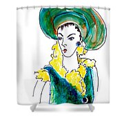 Hat Lady 16 Shower Curtain