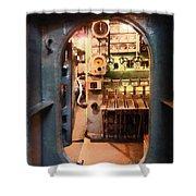 Hatch In Submarine Shower Curtain