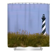 Hatteras Light Over The Dunes Shower Curtain