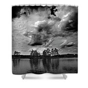 Haukkajarvi Bw Shower Curtain