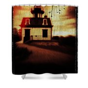 Haunted Lighthouse Shower Curtain by Edward Fielding
