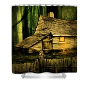 Haunted Shack Shower Curtain