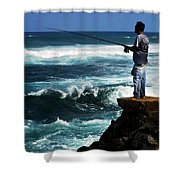 Hawaiian Fisherman Shower Curtain