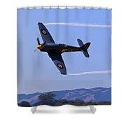 Hawker Sea Fury Shower Curtain