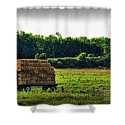 Hay Ride Shower Curtain