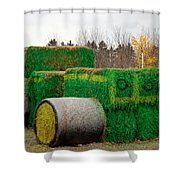 Hay Tractor Shower Curtain