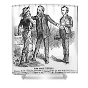 Hayes & White League, 1880 Shower Curtain