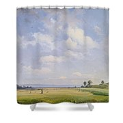 Haymaking Shower Curtain