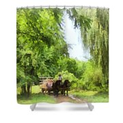 Hayride Shower Curtain