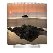 Hazy Oregon Sunset Shower Curtain