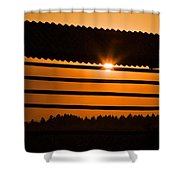 Hazy Summer Sunset Shower Curtain