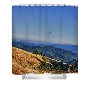 hd 377 hdr - Grasslands Shower Curtain