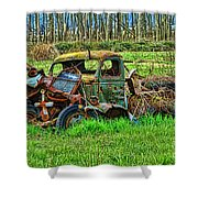 Hdr Wreck Shower Curtain