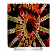 He Spoke Of Colours And Textures Shower Curtain