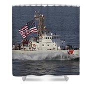 He U.s. Coast Guard Cutter Adak Shower Curtain