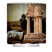 Head At Temple Of Castor And Pollux Shower Curtain