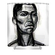 Head Study Shower Curtain by Gabrielle Wilson-Sealy