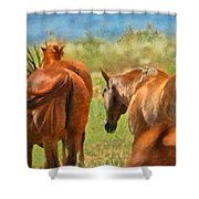 Heading Home Painterly Shower Curtain